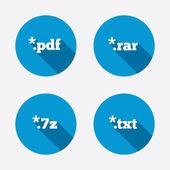 File extensions symbols. — Stock Vector