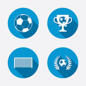 Soccer ball sport icons — Stock Vector