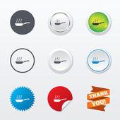 Ícones de sinal de frigideira — Vetor de Stock