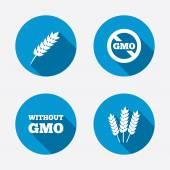 GMO free symbols. — Stock Vector