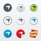 Hairdryer sign icons — Stock Vector