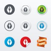 Pray hands sign icons — Stock Vector