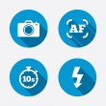 Photo camera icons — Stock Vector #67339069