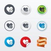 Heart sign icons — Stockvektor