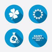 Saint Patrick day icons. — Stock Vector