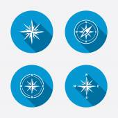 Wind rose navigation icons. — Stock Vector