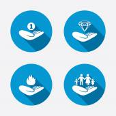 Helping hands icons. — Stock Vector