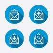 Mail envelope icons. — Stock Vector #67814415