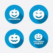 Halloween party icons. — Stock Vector