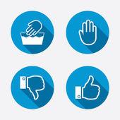 Like and dislike thumb up symbols. — Stock Vector