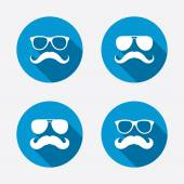 Mustache and Glasses icons. — Vetor de Stock