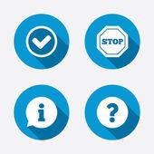 Stop prohibition symbols — Stock Vector