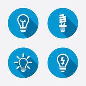 Light lamp icons. — Vecteur