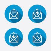 邮件信封图标. — 图库矢量图片