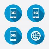 Mobile telecommunications icons. — Stock Vector