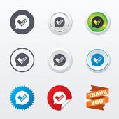 Quiz sign icons — ストックベクタ