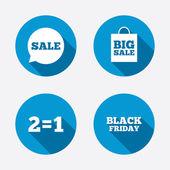 Sale speech bubble icons. — Stock Vector