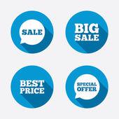 Special offer speech bubbles symbols — ストックベクタ