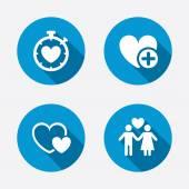 Valentine day icons. — ストックベクタ