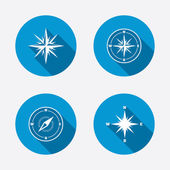 Windrose navigation icons. — Stock Vector