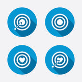 Target aim icons. — Stock Vector