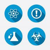 Attention biohazard icons. — Stock Vector