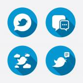 Bocadillo de diálogo de los medios sociales. — Vector de stock
