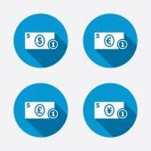 Cash money signs. — Stock Vector