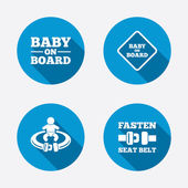 Baby on board icons. — Stock Vector