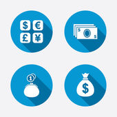 Currency exchange icons — Stock Vector