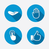 Like thumb up and click here symbols — Stock Vector