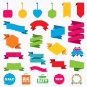 Ícones de bolhas de discurso de venda. — Vetor de Stock