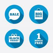 Sale speech bubble icons — ストックベクタ