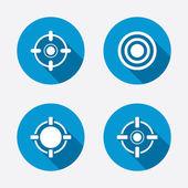 Target aim signs symbols. — Stock Vector