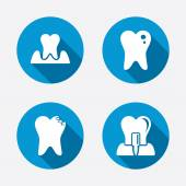 Dental care icons. — Stock Vector