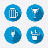 Alcoholic drinks signs. — Stock Vector
