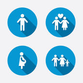 Family lifetime icons. — Stock Vector