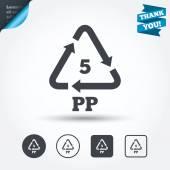 Polypropylene thermoplastic polymer. — Stock Vector