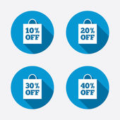 Sale bag tag icons — Stock Vector