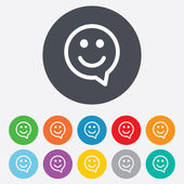 Smile sign icons — Stock Vector
