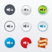 Speaker volume louder sign icons — Stock Vector