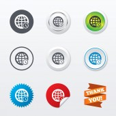 World time sign icons — Stock Vector
