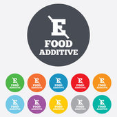 Food additive sign icons — Stock Vector
