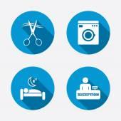 hoteldienstleistungsikonen stockvektor blankstock 74759115. Black Bedroom Furniture Sets. Home Design Ideas
