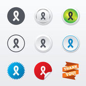 Ribbon sign icons — Stock Vector
