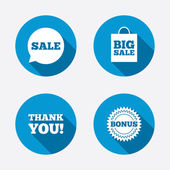 Sale speech bubble icons — Wektor stockowy