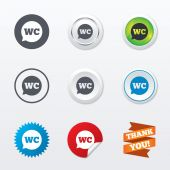 Iconos de wc wc. — Vector de stock