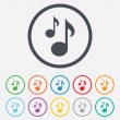 Music notes sign icons — Stock Vector #69950557