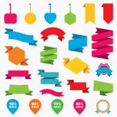 Sale pointer tag icons. — Stock Vector