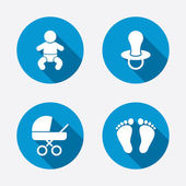 Baby infants icons. — Stock Vector